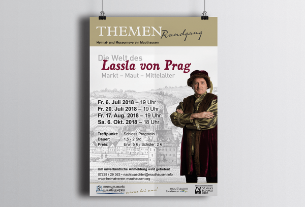 Werbeagentur Grafikpunkt - Punktlandung Museum Mauthausen Plakat Lassla