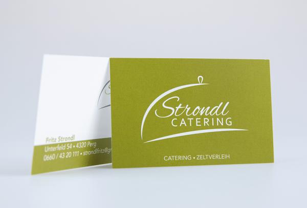 Werbeagentur Grafikpunkt - Punktlandung Strondl Catering