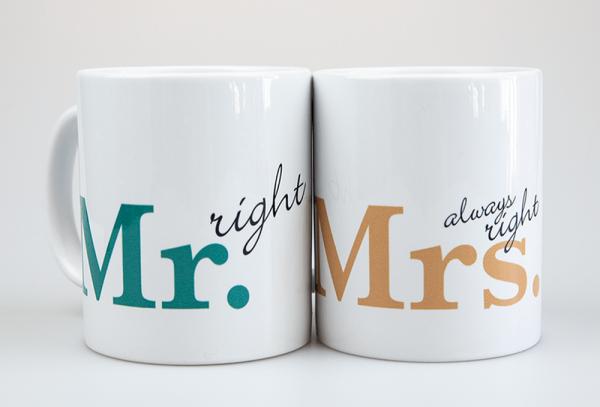 Grafikpunkt - Tassen Brautpaar