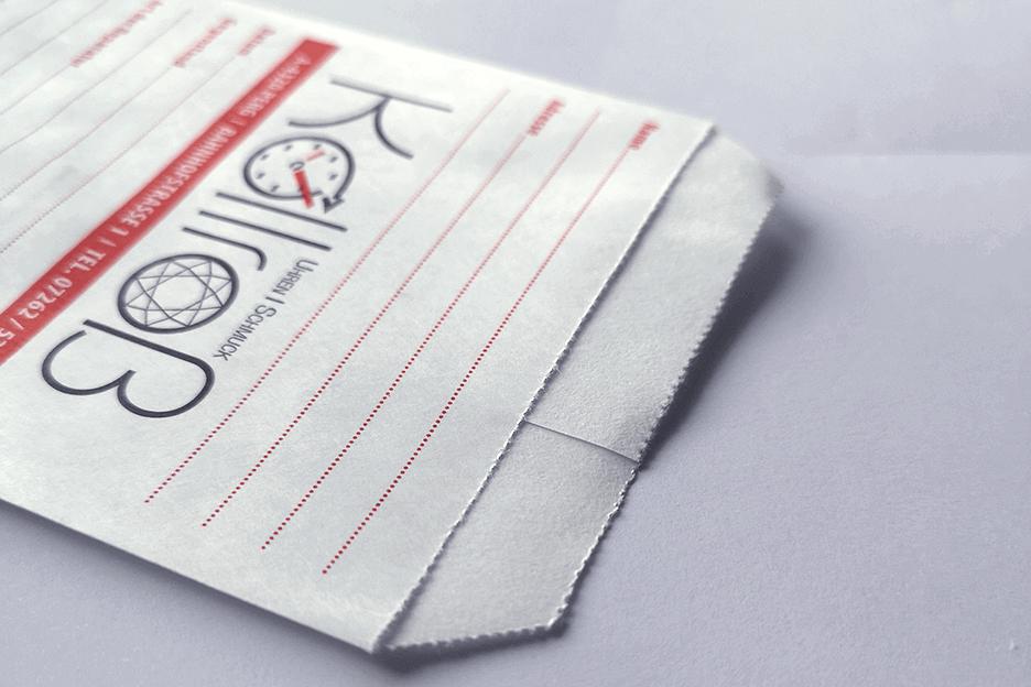 Kollroß - Flachbeutel Detail