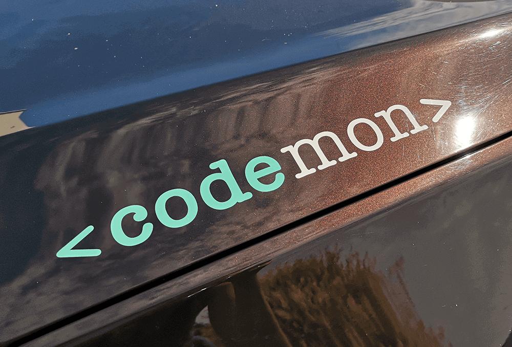 Grafikpunkt - Codemon, Programmierer, Autobeklebung