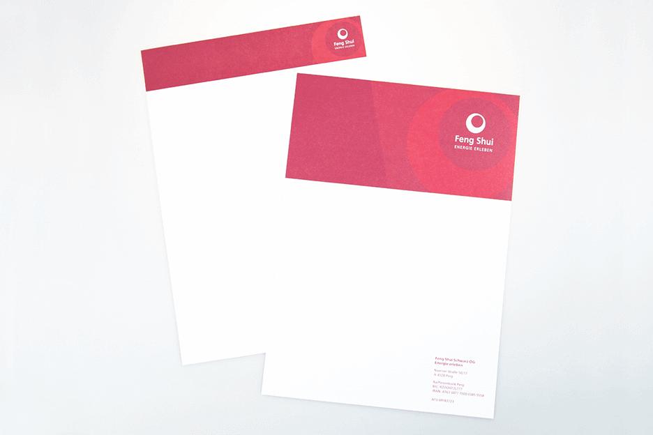 Grafikpunkt - Feng Shui Schwarz, Briefpapier, Rechnungspapier