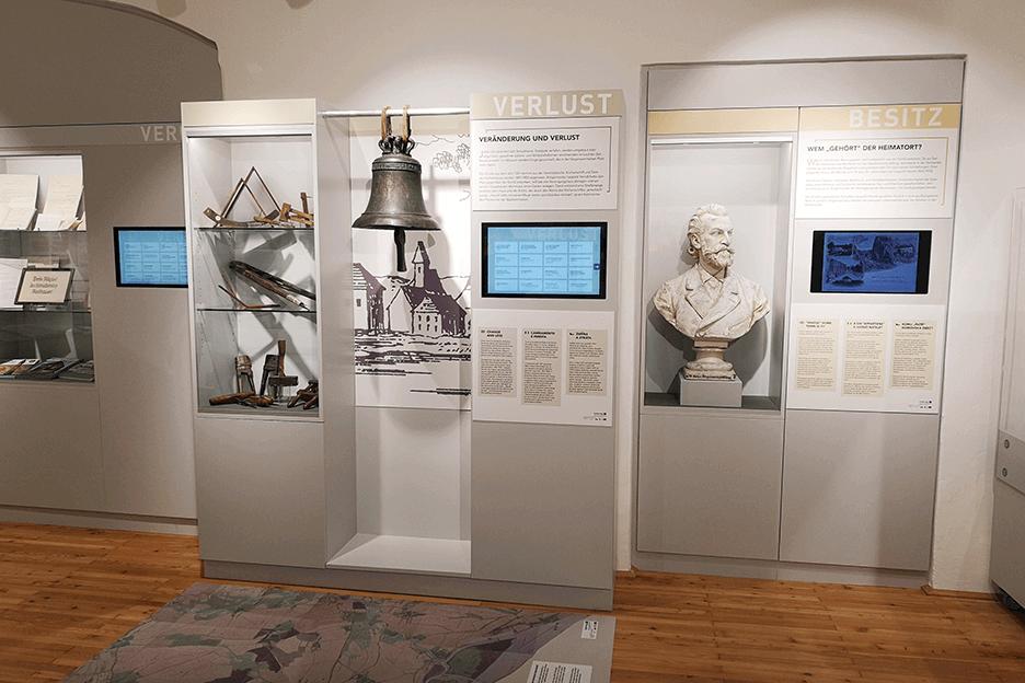 Grafikpunkt - Heimat- und Museumsverein Mauthausen, Ausstellung, Tafeln, Beschriftungen